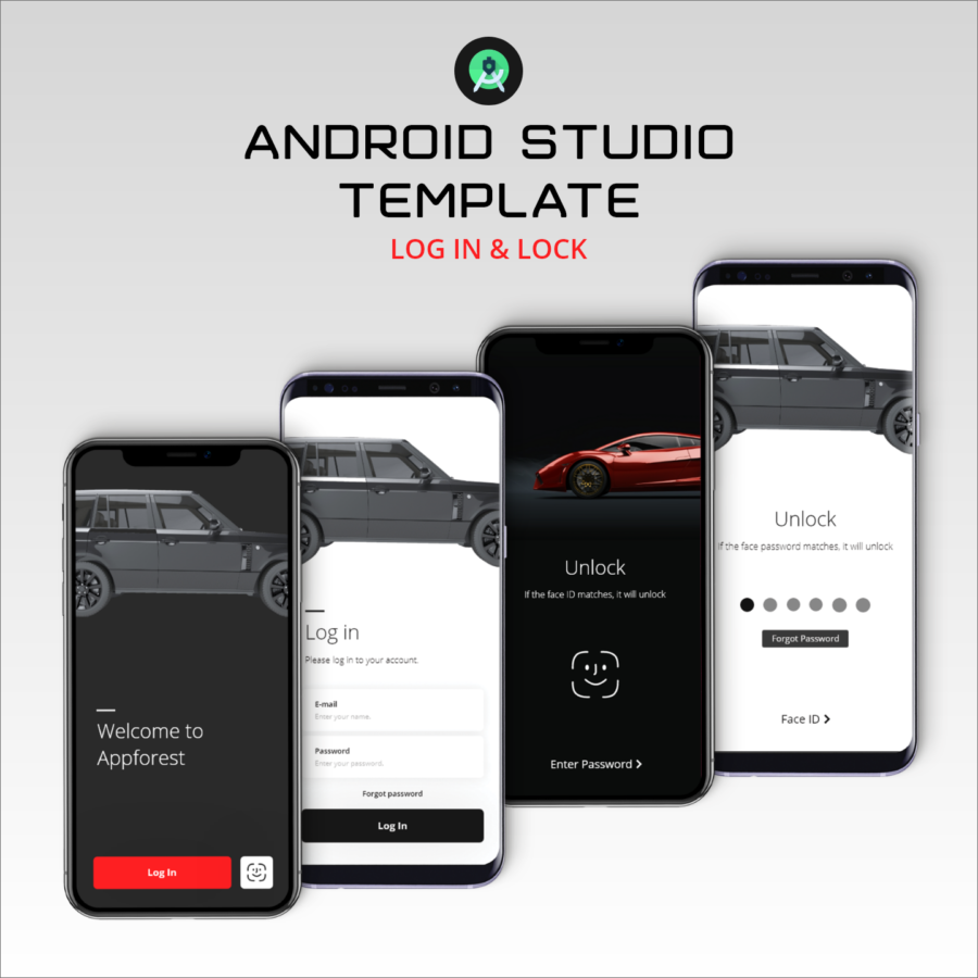 Log in and Lock – Android Studio Template