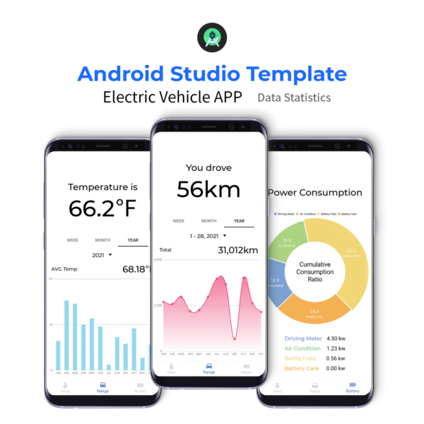 Data statistics app - Android studio source code