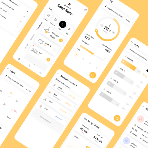Smart Home App UI Kit