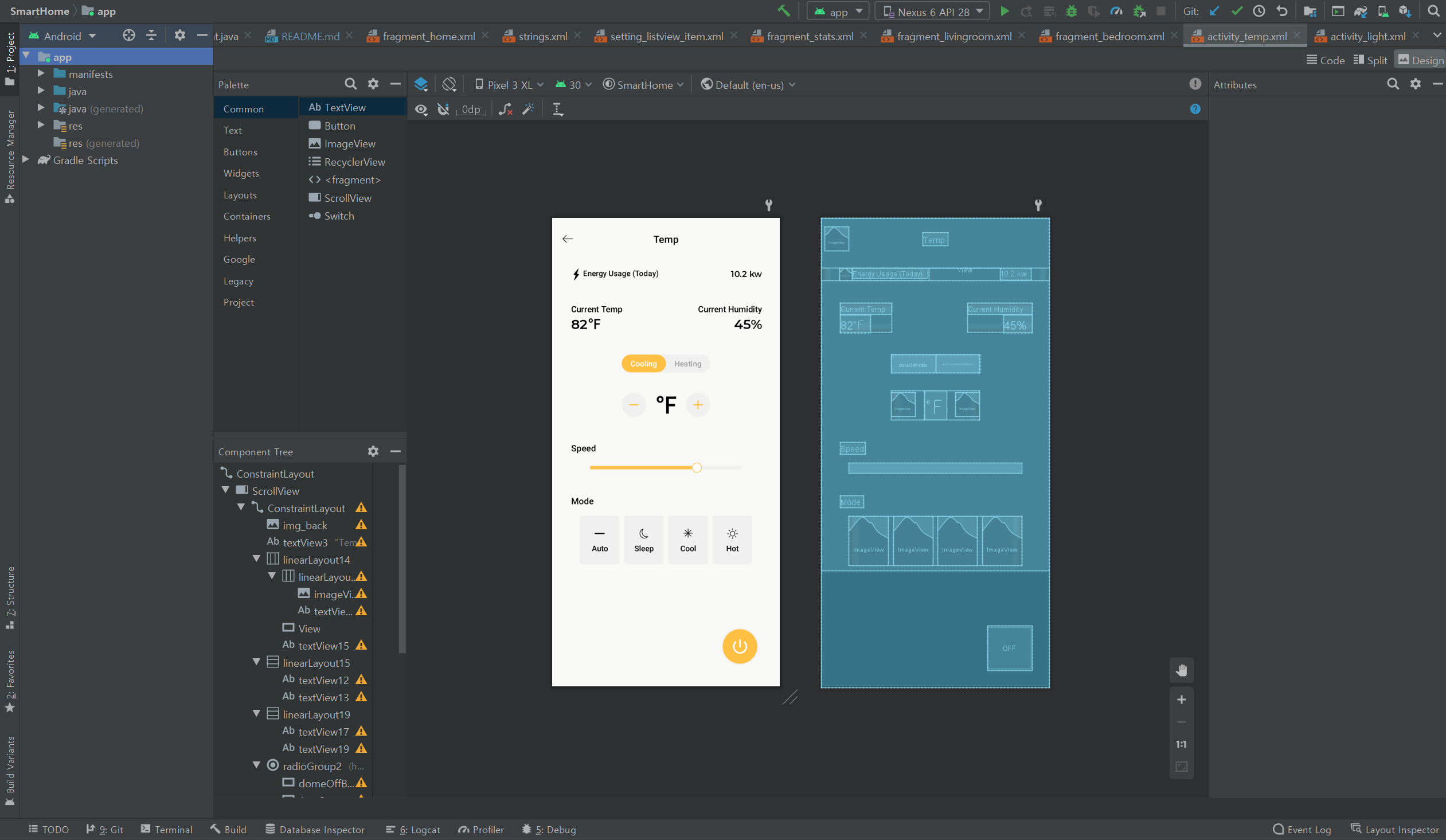 Smart IoT Home app – Android studio