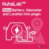 Huhalab Volvo Battery, Odometer and Location Info plugin